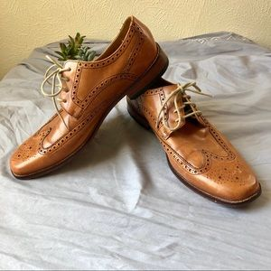 Cole Haan Wingtip Lace Up Oxfords 11 1/2M Leather